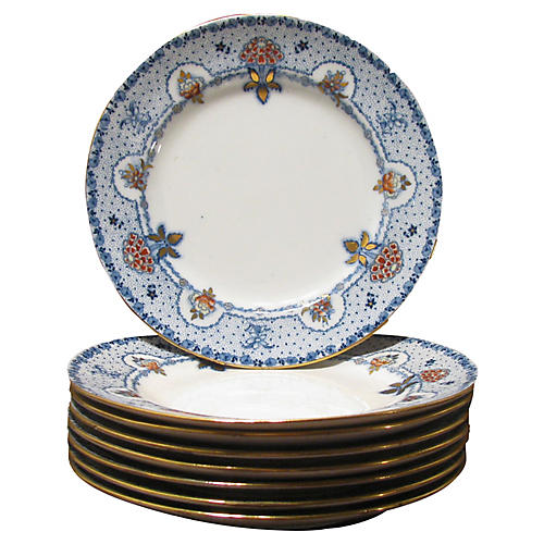 19thC. English Staffordshire Plates, S/8