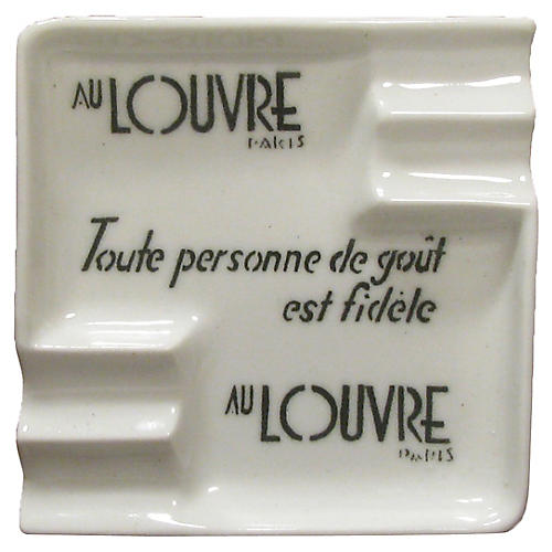 Au Louvre Paris Art Deco Ashtray
