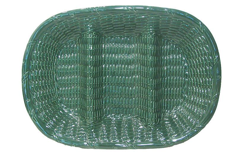 Portuguese Woven Faience Platter