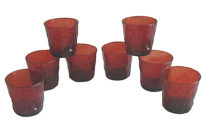 Red Bar Glasses, S/8