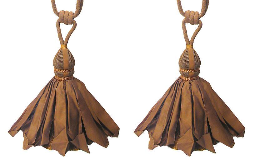 Copper Tieback w/ Ballgown Tassel, Pair