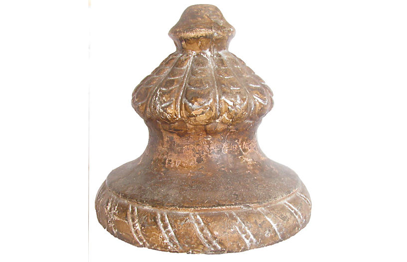 French Pottery Finial