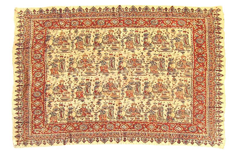 Qalamkari Persian Figural Textile
