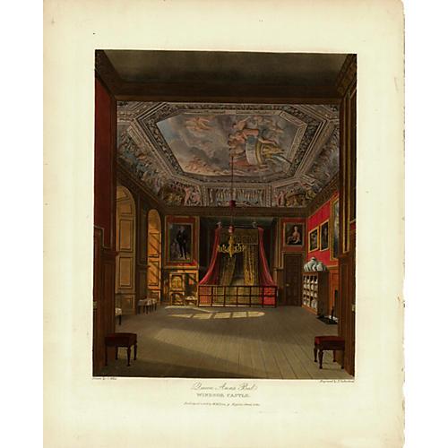 Queen Ann's Bed, Windsor Castle, 1819