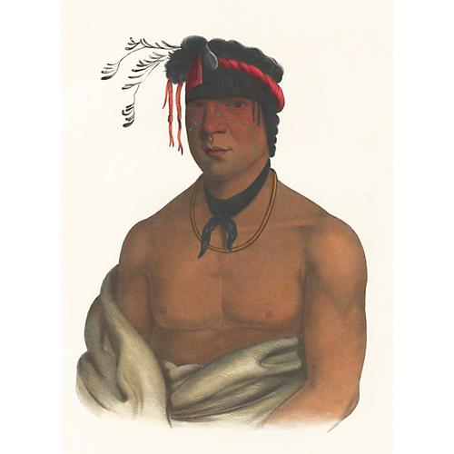 Chippewa Chief, McKenney & Hall, C. 1850