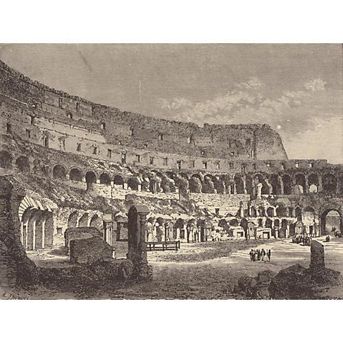 Inside the Colosseum, Rome, 1888