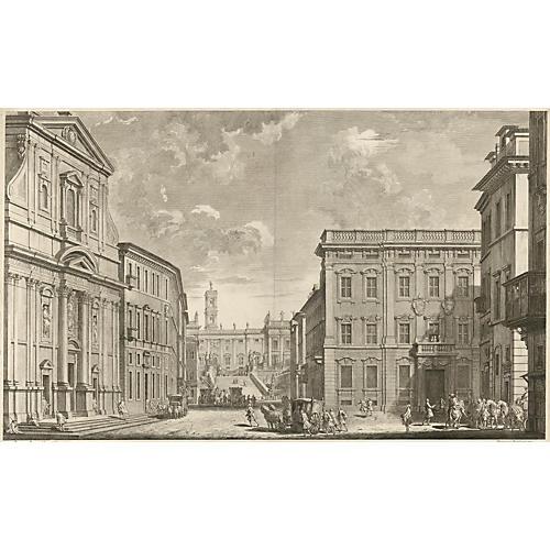 Chiesa del Gesù, Rome, by Panini, 1769