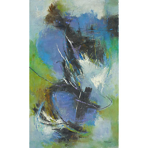 Abstract in Blue & Jade by James McKeon