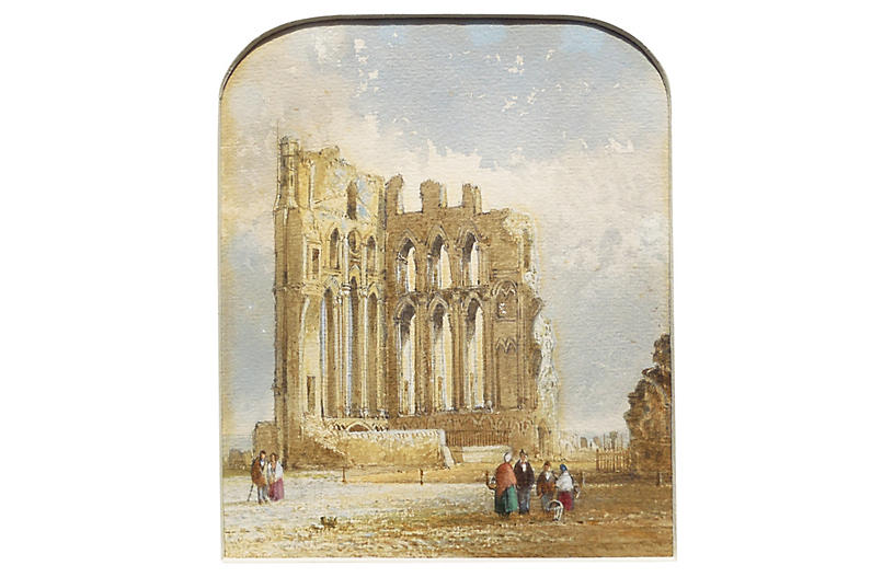 Ruins of an English Abbey, 1840's