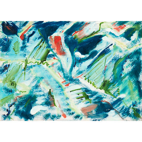 Abstract in Aqua & Jade, 1975