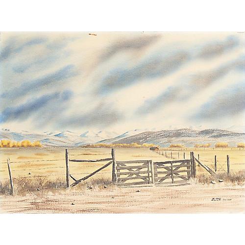 High Desert Landscape, 1968