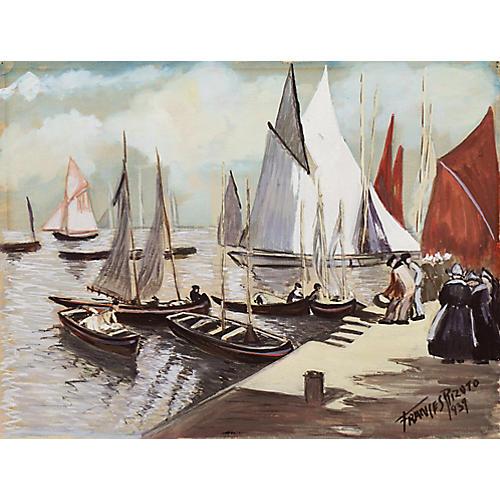 Breton Harbor by Frances Rizuto, 1939