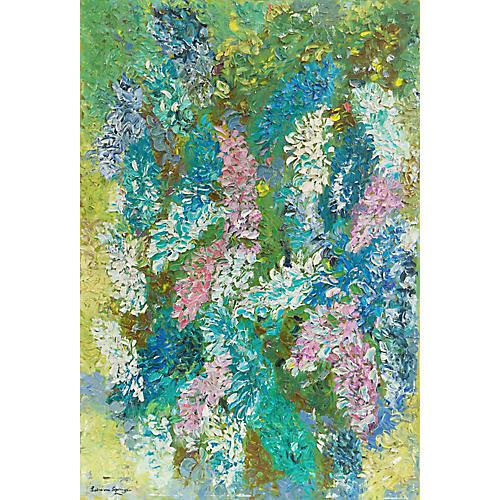 Study of Hyacinths by Lydia Von Springer