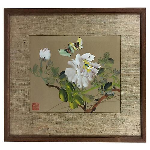 Butterflies & Prunus Blossom, C. 1960