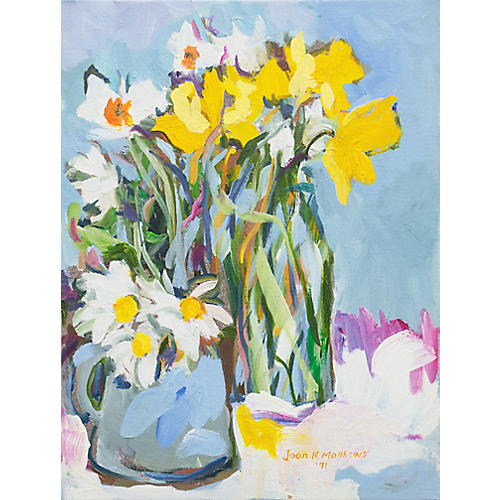 Daffodils by Joan Matthews, 1971