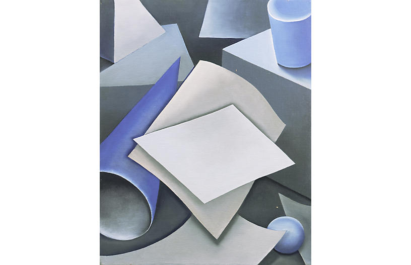 Study in Blue by Ikuko Nagai, 1960s