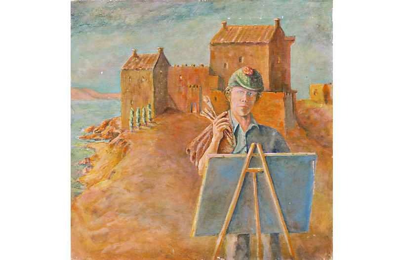 The Artist at his Easel by Howard Rhodes
