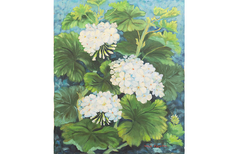 Hydrangeas by Wendy Edgerton, 1972
