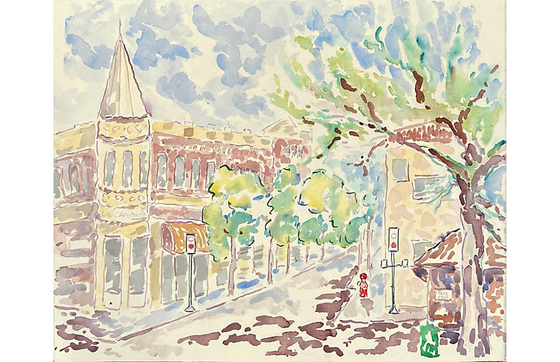 Downtown Saratoga by Donald Geoffroy