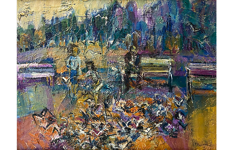 In the Park, 1960's Woman Artist