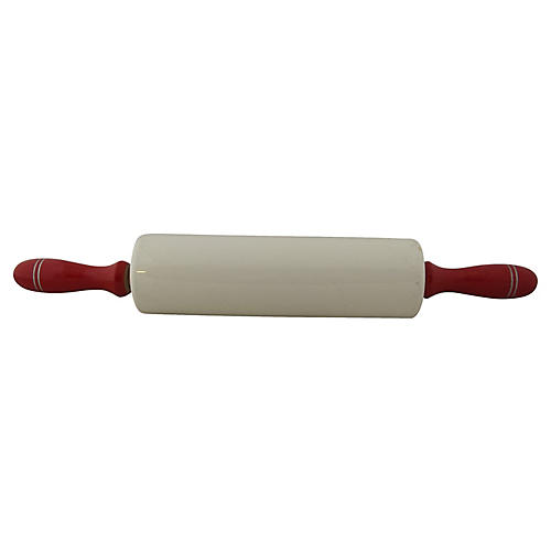 English Nutbrown China Rolling Pin