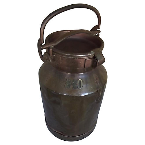 Belgian Copper Milk Can