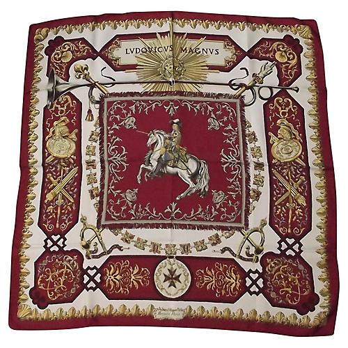 Hermès Louis IV Scarf