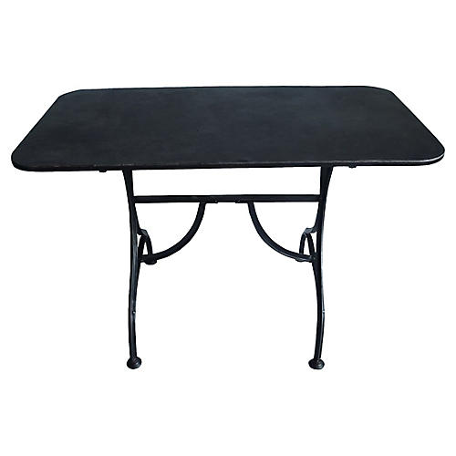 19th-C. French Steel Bistro Table