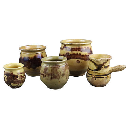French Storage Crocks, S/5