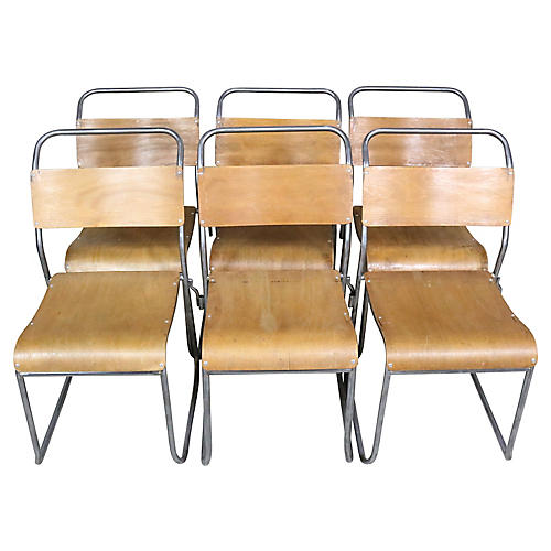 English Bent-Wood Chairs, S/6