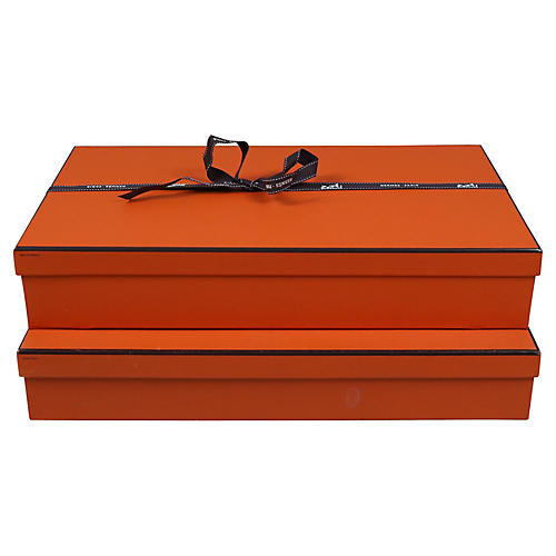 Stack of Two Hermes Boxes
