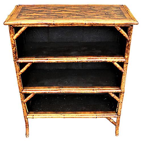 English Bamboo Bookcase