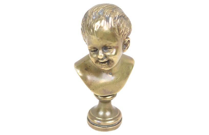 Bronze Seal of a Boy
