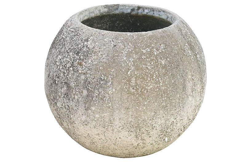 French Sperical Cast Stone Planter