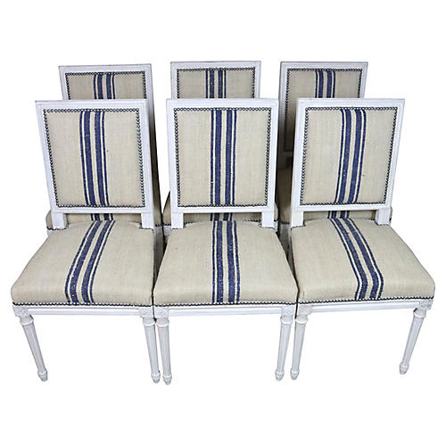 Louis XVI Style Dining Chairs, Set/6