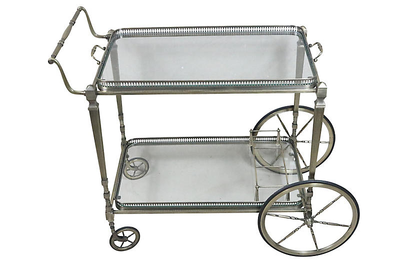 French Midcentury Serving Cart