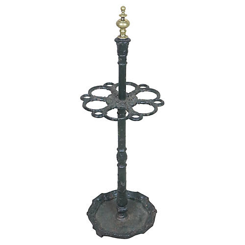 French Cast Iron Umbrella Stand