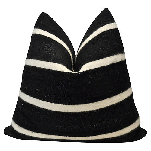 Berber Handloomed Black & White Pillow