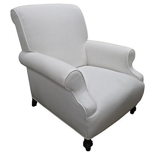 White Linen Chill Chair