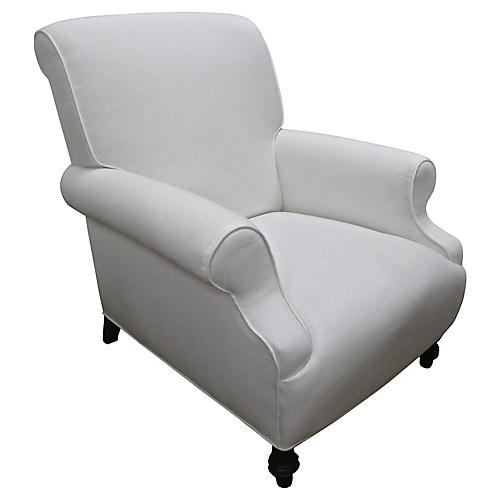 White Linen Chill Chair