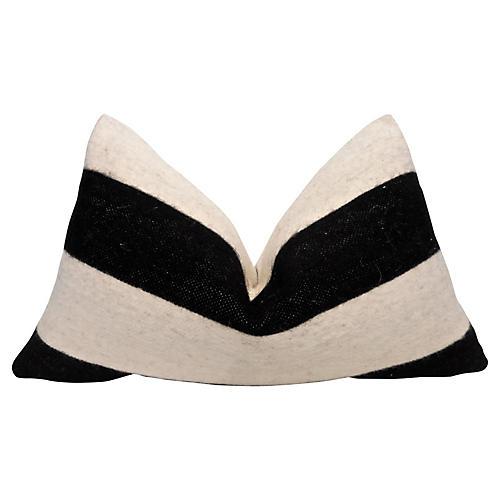 Berber Handloomed Wool Striped Pillow
