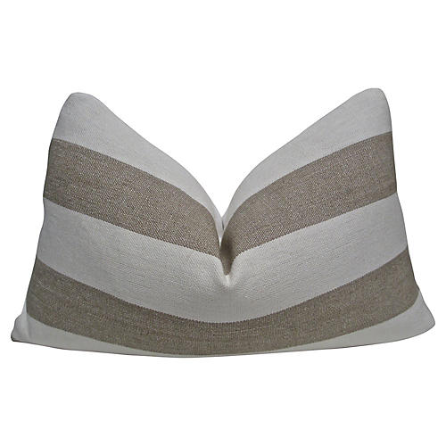 Ivory & Sand Cabana Linen Pillow
