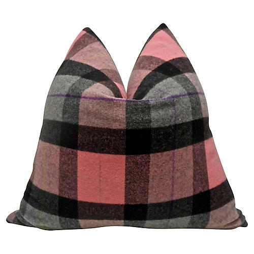Italian Wool Plaid Flannel Pillow