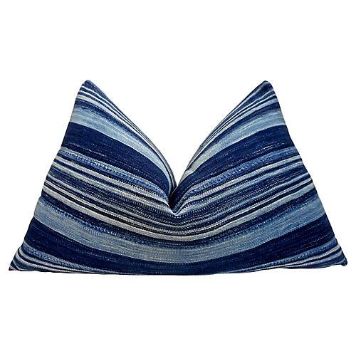 Vintage Indigo Blues Pillow