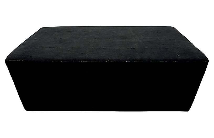 Black Mud Cloth Cocktail Ottoman