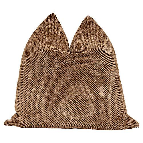 Chestnut Chenille & Linen Pillow