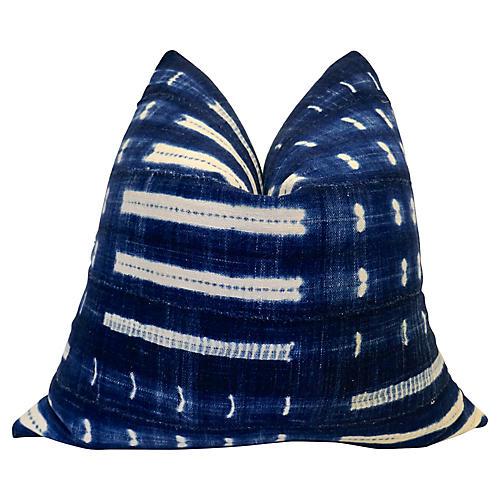 Indigo Blue & Chambray Pillow