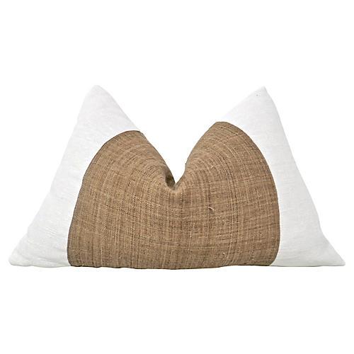 Tobacco Hemp & Linen Lumbar Pillow