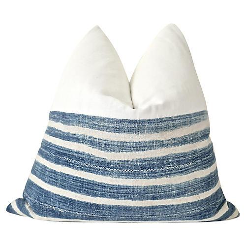 African Hand-Spun Indigo Blues Pillow