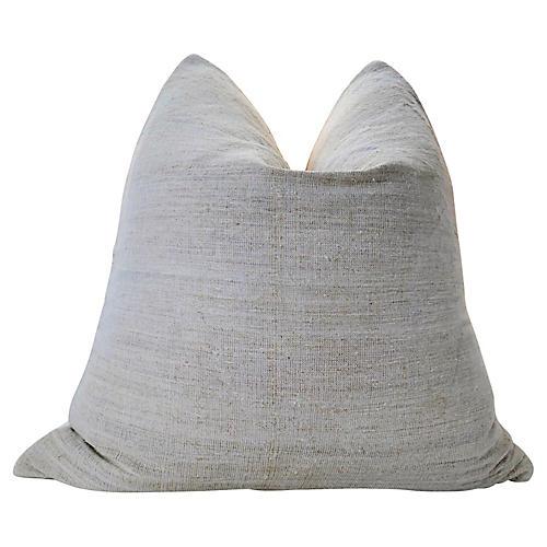 French Hand-Spun Natural Linen Pillow